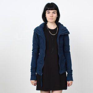NWT Navy Blue Midnight Short Cloak Hoodie